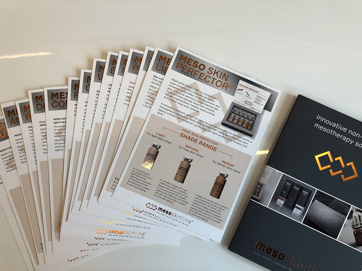 15 exclusive product sheets with assembly folder made with soft touch, hot foil and lacquer