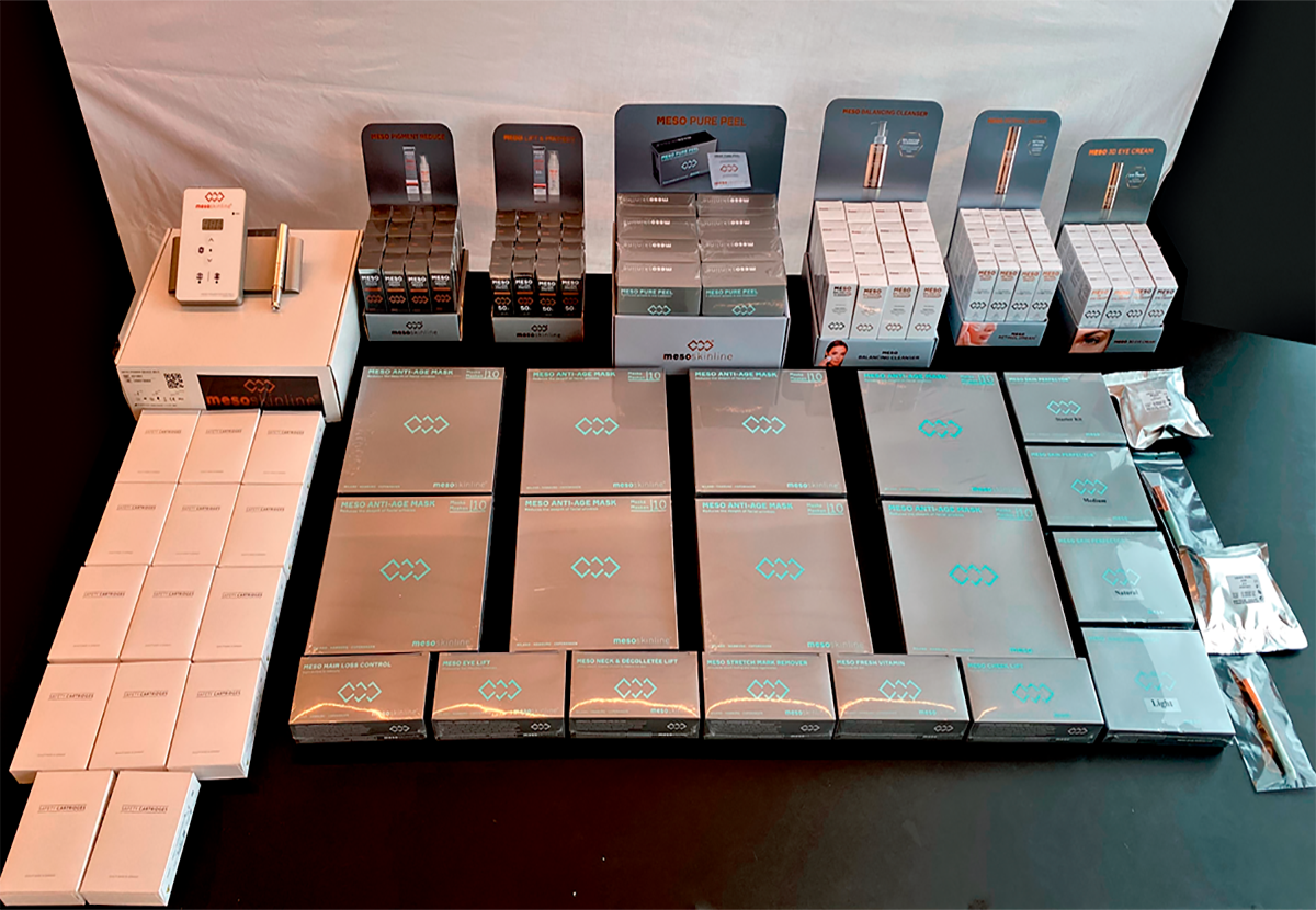 Complete product range for 130 treatments (incl. Meso Power Device MS-3 and needles)