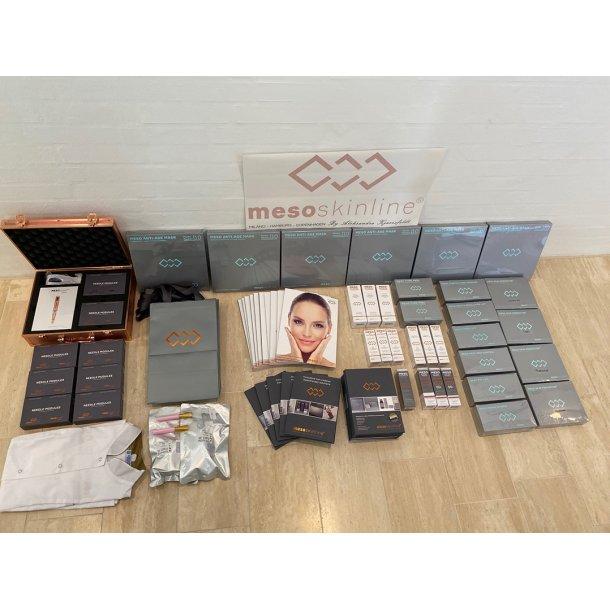 Komplet produkt sortiment til 130 behandlinger (inkl. MESOpower Pen og nåle)